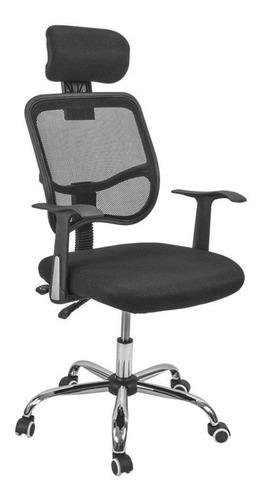 Silla de escritorio Top Living SILL4 ergonómica  negra con tapizado de mesh