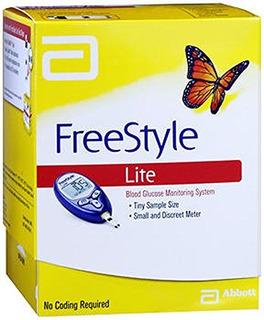 Set De 4 Sistemas Medidores De Glucosa Freestyle Lite, Con