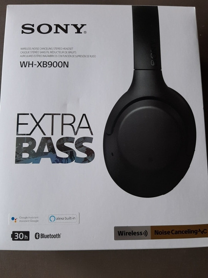 Headphones Com Noise Cancelling - Sony Wh-xb900n - Preto