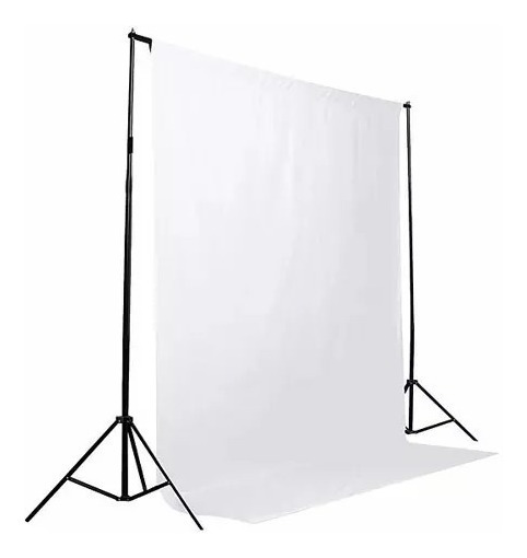 1 Tecido 2x3 Branco + Suporte Fundo Infinito Fotografia Foto