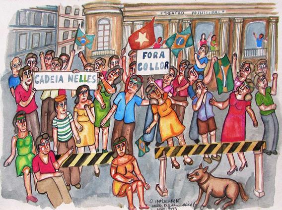 Kleber Figueira - O Impeachment - Arte Naïf