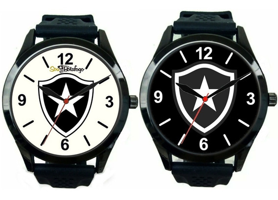 Kit 2 Relógios Pulso Esportivo Botafogo Masculino Barato