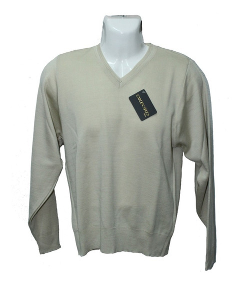 Sweater Cuello V Para Caballero