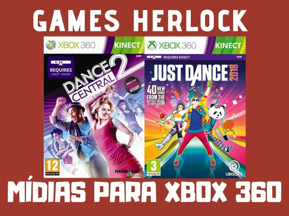 Just Dance 2018 + Dance Central 2 - Xbox 360 - Mídia Digital