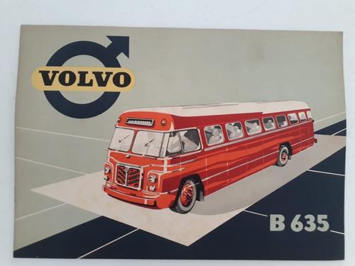 Livreto Folder Folheto Brochura Ônibus Volvo B 635 1953