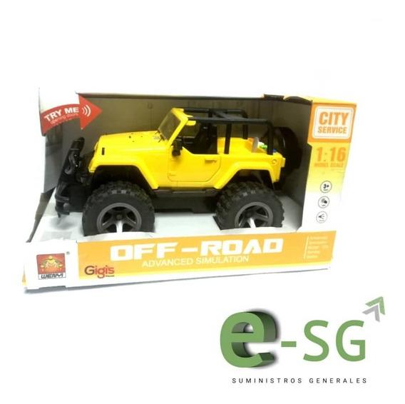 Juguete Carro Jeep Amarillo Luces Sonido Niño