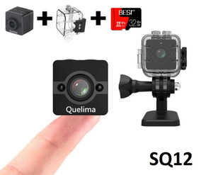 Mini Camera Sq12 + Caixa Estanque + Cartao Micro Sd 32gb