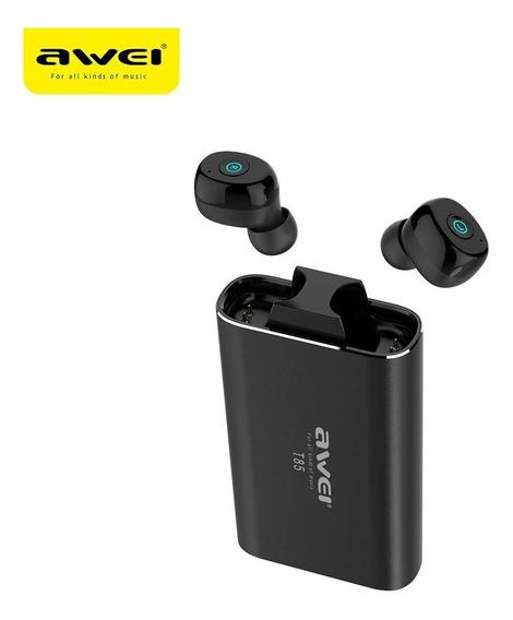 Awei T85 Sem Fio Bluetooth V5.0 Fone De Ouvido E Power Bank