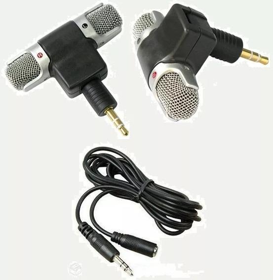 Microfone Sony Stereo + Cabo Extensor Celular Câmera iPhone