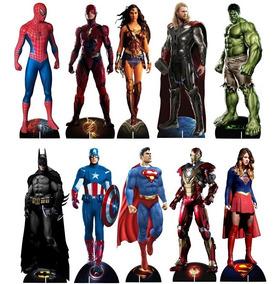 Kit Display Herois Totem Mdf Vingadores Marvel