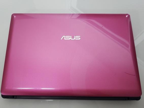 Notebook Usado Asus K34e Rosa Core I5 2.3ghz 8 Gb Hd 750gb