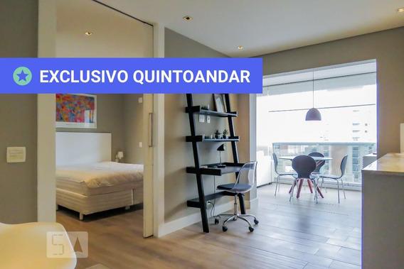 Apartamento No 21º Andar Mobiliado Com 1 Dormitório E 1 Garagem - Id: 892986823 - 286823