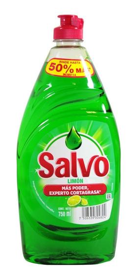Lavatrastes Líquido Salvo Aroma Limón 750 Ml
