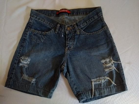 Shorts Em Jeans Com Rasgos Ref Ss 209