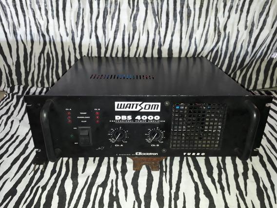 Amplificador De Potencia Dbs 4000 (wattsom,cygnus,crest... ) 1000 W Rms