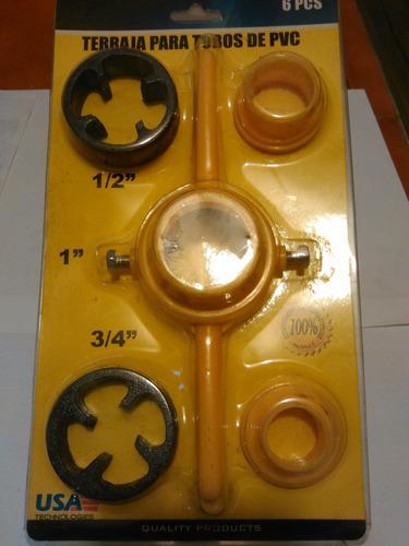 Juego Tarraja Manual Tubos Pvc / Plásticos Lea Descripción