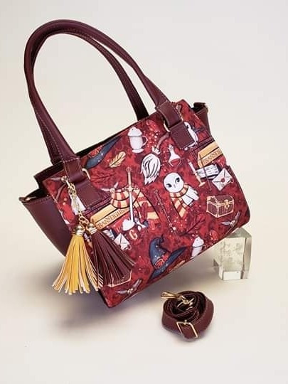 Bolso Harry Potter Dama Color Vino Bolsa Harry Nacional