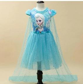 Vestido Fantasia Elza Ana Frozen Disney
