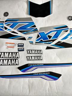 Kit De Calcomanias Yamaha Xtz 125 Moto Azul Modelo Nuevo
