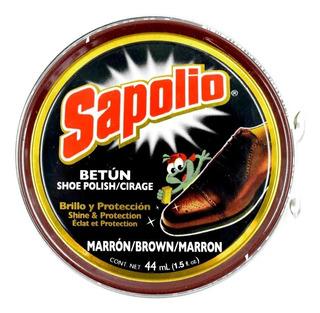Pomada Para Zapato Sapolio Marrón Lata 44ml