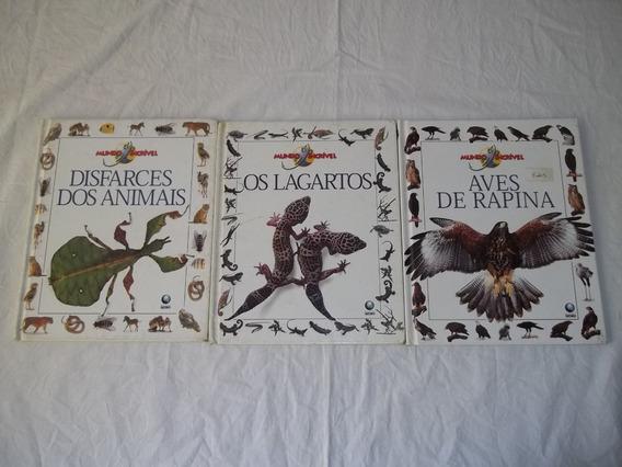 Livro Coleção Mundo Incrível 3 Volumes Conforme Foto