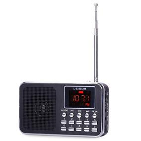 Mini Rádio De Bolso Digital Am/fm Recarregável Preto