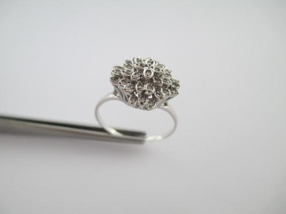 Espetacular Anel Com Diamantes - Ouro 18k - 3.95 Gr - Aro 26