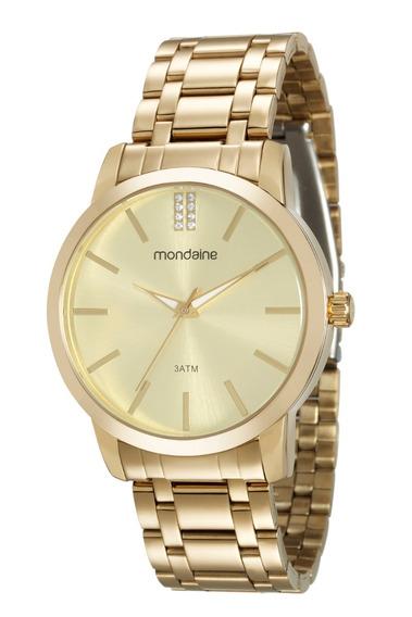 Relógio Mondaine Feminino Analógico Dourado 99107lpmvde1