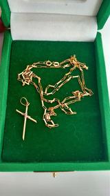 Corrente De Ouro E Crucifixo De Ouro 18k