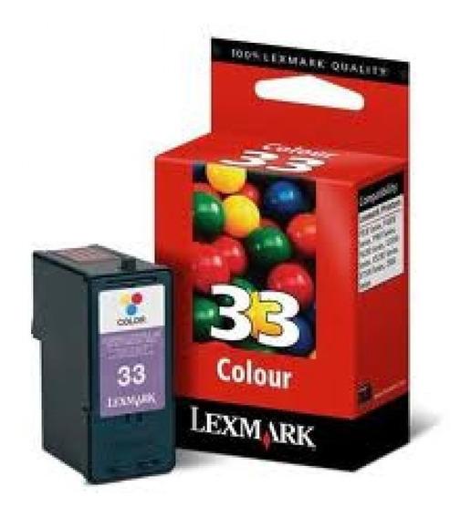 Cartucho Lexmark 33 Color Original Tienda