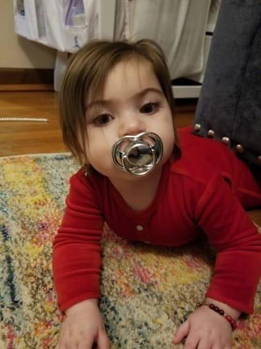 Chupeta Dourada Calmante Ortodontica Bebe Infantil