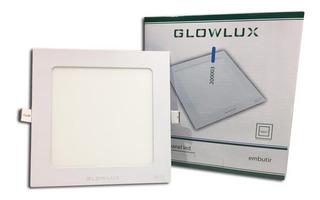 Panel Led Embutir 12w Cuadrado Luz Fría - Glowlux - E. A.