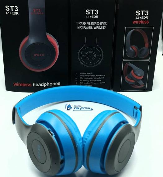 Audifonos St3 Wireless Micro Sd + Bluetooth Somos Tienda