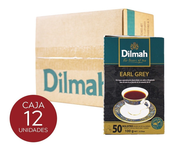 Té Negro Dilmah Earl Grey Caja 12 Unidades.