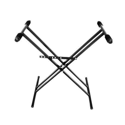 Soporte Mesa Tijera Negro Teclado Key Pie Doble Pro Stands
