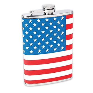 Maxam Ktflkflg Acero Inoxidable Hip Flask Usa Flag Wrap 8 Oz