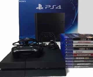 Playstation 4 Excelente Estado+dualshock 4+11 Juegos+cuenta