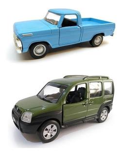 Kit 2 Miniaturas De Carros Nacionais Em Metal Escolha O Seu