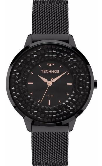 Relógio Technos Feminino Crystal Elegance 2035mlf/1p Preto