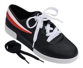 Tênis Melissa Sneaker + Fila Preto Branco Vermelho 32477