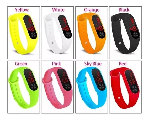 Kit 10 Relógios Digital Feminino Bracelete Colorido Atacado
