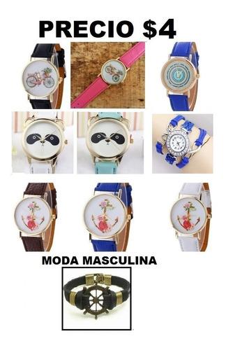 Reloj Pulsera De Mujer Pulsera De Cuero Varios Diseños