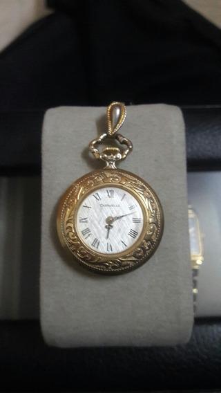 Reloj De Bolsillo O Dije Para Dama Caravelle Cuerda Manual.