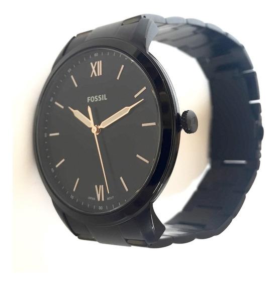 Relógio Fossil Preto Fs5526 Analógico Original Usa