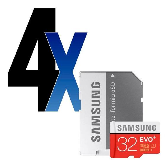 Cartão Memória Evo Plus 32gb + Adp Samsung 4 Unidades