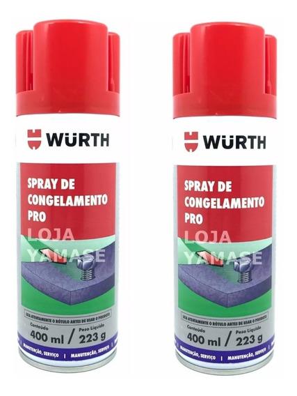 2 Congelante Aerosol Spray Eletrônica Esfria Rápido Wurth