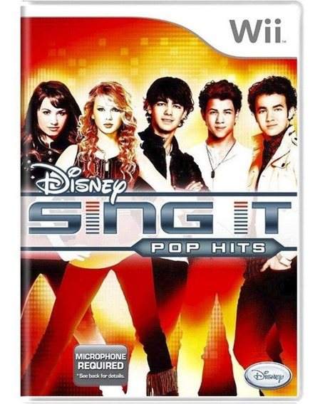 Jogo Lacrado Midia Fisica Disney Sing It Pop Hits Wii