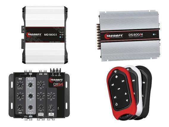 Kit Crossover Crx4 +md1800 2ohm + Ts400 X4 Tlc3000 Taramps