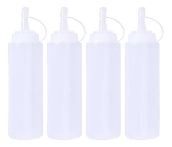 4 Pcs Acessórios De Cozinha Plástico 200ml Squeeze Bottle