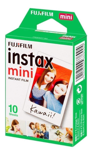 Filme Instantâneo Fuji Instax Mini Branco Caixa 10 Fotos